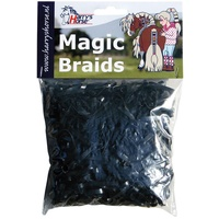Harry's Horse Magic Braids Plaiting Elastic Bands - Black REUSABLE