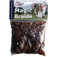 Harry's Horse Magic Braids Plaiting Elastic Bands - Brown REUSABLE