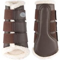 Flextrainer Horse Protection Boots with Fleece Lining. Brown