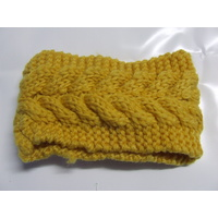 Ecotak Cable Knit HeadBand - yellow