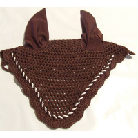 Brown Crochet Ear Bonnet/Ear Net