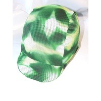 Ecotak Lycra Helmet Cover - Green retro