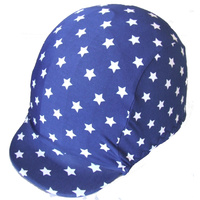 Ecotak Lycra Helmet Cover - Navy with white stars