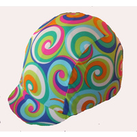 Ecotak Lycra Helmet Cover - Coloured Swirls