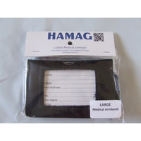 Hamag Leather Medical Armband - Black Large