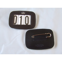 Hamag Square Leather Saddle Pad Numbers - Black