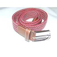 Ecotak Stretchy Webbing Belt - Burgundy with a white fleck