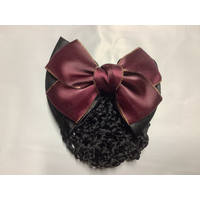 Ecotak Bow Hair Clip with hair net/snood - blues & pale pink