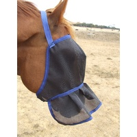 Ecotak Fly Mask/Veil with nose frill/skirt - Royal Blue
