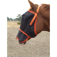 Ecotak fly mask/veil with contoured nose flap - Orange
