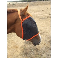 Ecotak fly mask/veil - orange