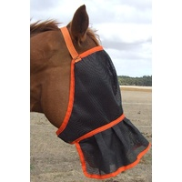 Ecotak Fly Mask/Veil with Skirt/frill nose - orange