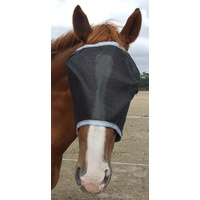 Ecotak Black Fly Mask/Veil with Grey Trim