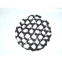Ecotak Crochet Bun Hair Net with Diamontes - Black