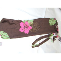 Ecotak Lycra Rugless Tie in Tail Bag - Brown Flower