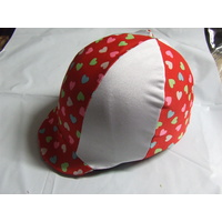 Ecotak Lycra Helmet Cover - Red & White hearts