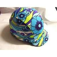 Ecotak Lycra Helmet Cover - Bright Paisly Flowers