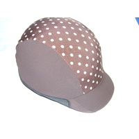 Ecotak Lycra Helmet Cover - Chocolate Polka Dot