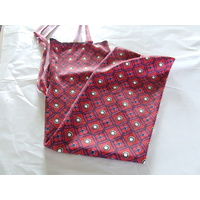 Ecotak Lycra rugless tail bag - burgundy pattern small pony