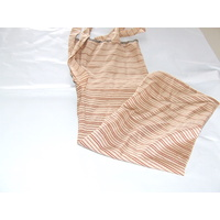 Ecotak Lycra Rugless Tie in Tail Bag - Tan stripe Shetland