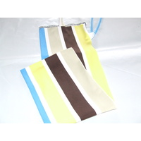 Ecotak Lycra Rugless Tie in Tail Bag - brown yellow blue stripe