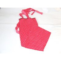 Ecotak Lycra Rugless tie in Tail Bags - Red polka Dot