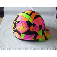 Ecotak Lycra helmet cover - Abstract shapes.