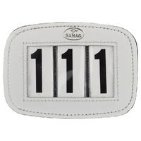 Hamag Rectangle 3 digit Saddle Pad Numbers - White