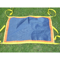 Ecotak yard/stable/gate/stall guard - navy blue orange & yellow