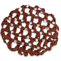 Ecotak Crochet Bun Hair Net with Diamontes - Brown