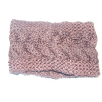 Ecotak Cable Knit Headband - Chocolate Brown