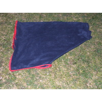 Ecotak Pull on Polar Fleece Neck Rug - Navy with Red trim