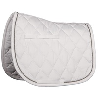 Harry's Horse Next Full Size Dressage Saddle Pad - White/silver