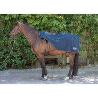 Harry's Horse Teddy Fleece Double layer exercise rug/quarter sheet - navy