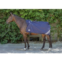 Harry's Horse Exercise rug/quarter sheet waterproof with fleece lining - Navy