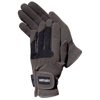 Harry's Horse Mesh Domy Suede Gloves - Brown