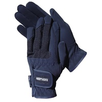 Harry's Horse Domy Suede Gloves - Navy Blue