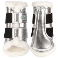Harry's Horse Metallic Flextrainer Horse Boots - Silver