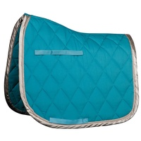 Harry's Horse Next Cob Size all purpose Saddle Pad - Turquoise/Silver