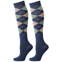 Harry's Horse Knee High Argyle Long Socks - blue nights szM