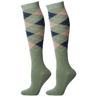 Harry's Horse Knee High Argyle Long Socks - sea spray szM