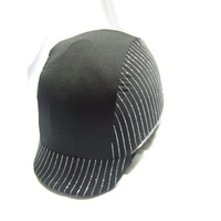 Ecotak Lycra Helmet Cover - black & silver stripes