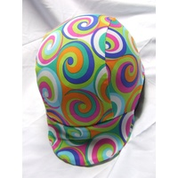 Ecotak Lycra Helmet Cover - bright swirls