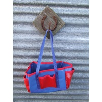 Ecotak Rectangle PVC Grooming Bag - Royal Blue & Red