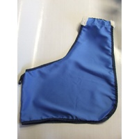 Ecotak Satin Horse Bib/Shoulder Guard with wither fleece- Royal Blue/navy