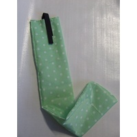Ecotak Showerproof Rugless Tail Bag - mint green with white polka dots