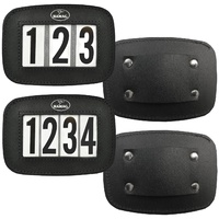 Hamag Black Leather Halter Numbers.