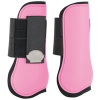 Harry's Horse Open front Tendon Boots - pink shetland size