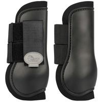 Harry's Horse Open front Tendon Boots - black shetland size
