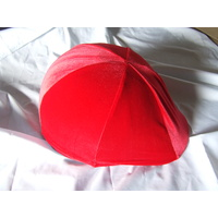 Lycra Helmet cover no peak pocket. red velvet